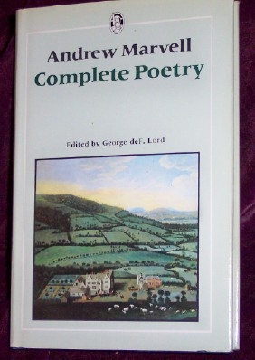 Andrew Marvell, Complete Poetry, Marvell, Andrew, edited by Lord, George deF. Lord