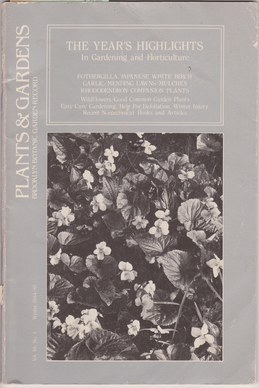Plants & Gardens, Brooklyn Botanic Garden Record, Multi Contributors