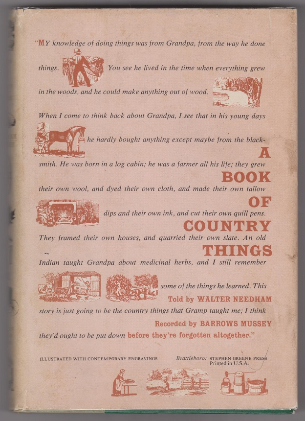 A Book of Country Things, Needham, Walter; Mussey, Barrows