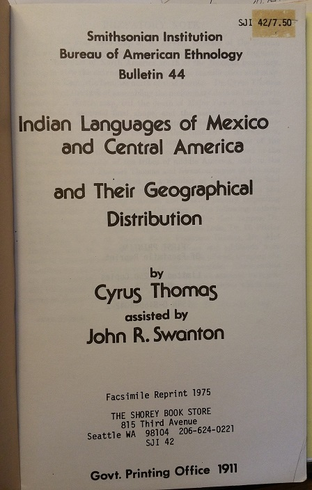 Image for Indian Languages of Mexico and Central America and Their Geographical Distribution