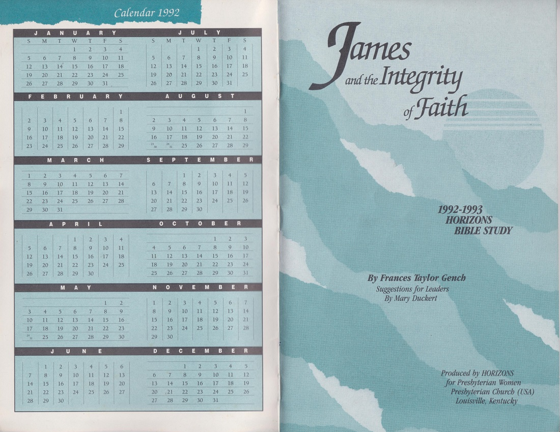 Image for James and the Integrity of Faith, 1992-1993 Horizons Bible Study Volume 5, Number 3