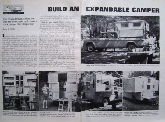 Build It Yourself Campers Build It Yourself Cabin Kits: How To Build Pick-up Truck POP-UP CAMPER SHELL Fast