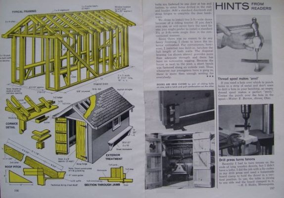 How To Build A Poolhouse Cabana Garden Shed 1971 Plan