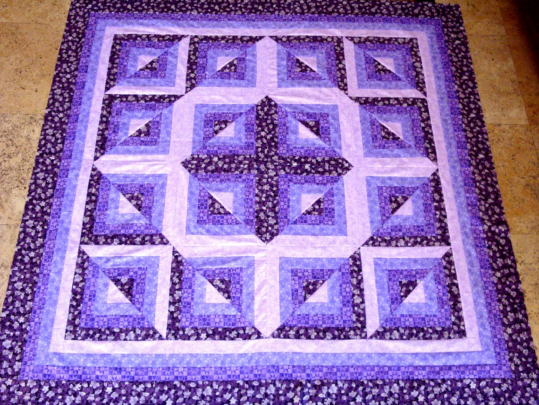 Transcendent Purple Illusion Quilt Top Ebay