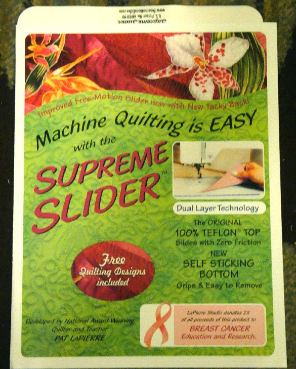 Quilting Slider Mat: Free Motion Quilting SUPREME SLIDER Free Shipping Quilt